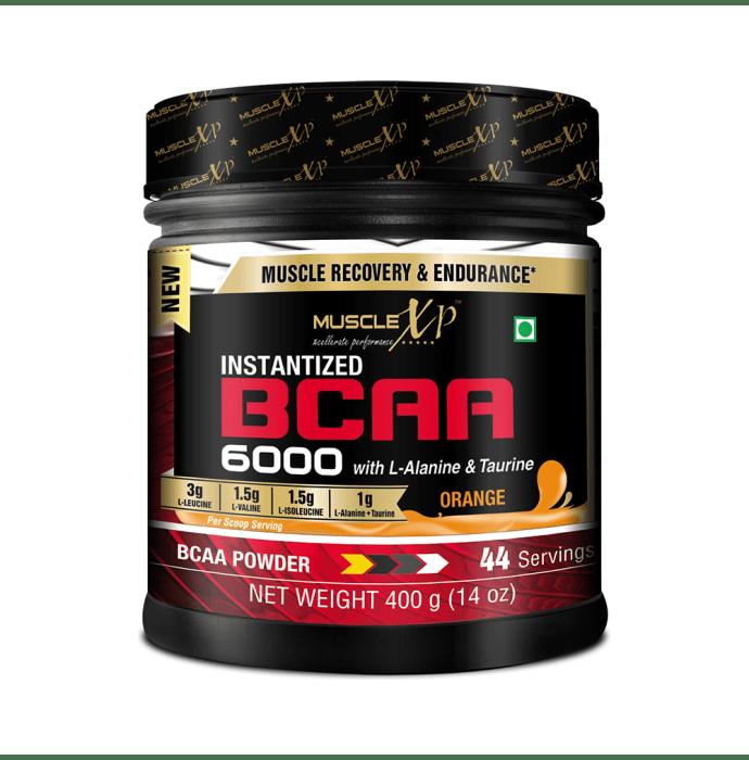 MuscleXP Instantized BCAA 6000 with L-Alanine & Taurine Powder Orange