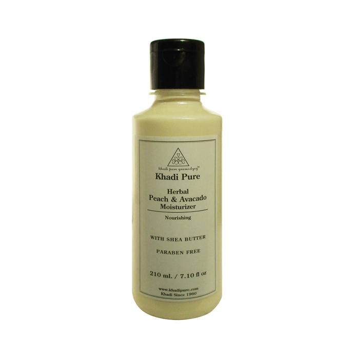 Khadi Pure Herbal Peach & Avacado Moisturizer with Sheabutter Paraben Free
