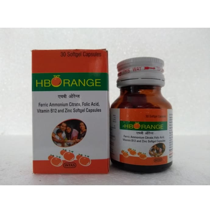 HB Orange Softgel Capsule