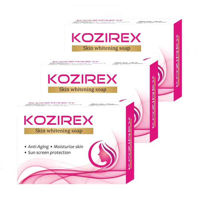 Biotrex Kozirex Skin Whitening Soap Pack of 3