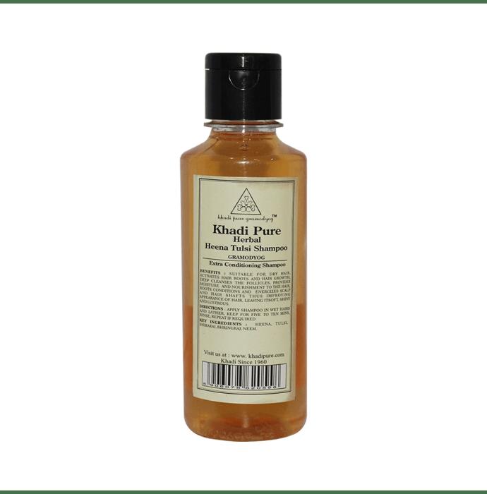Khadi Pure Herbal Henna & Tulsi with Extra Conditioning Shampoo