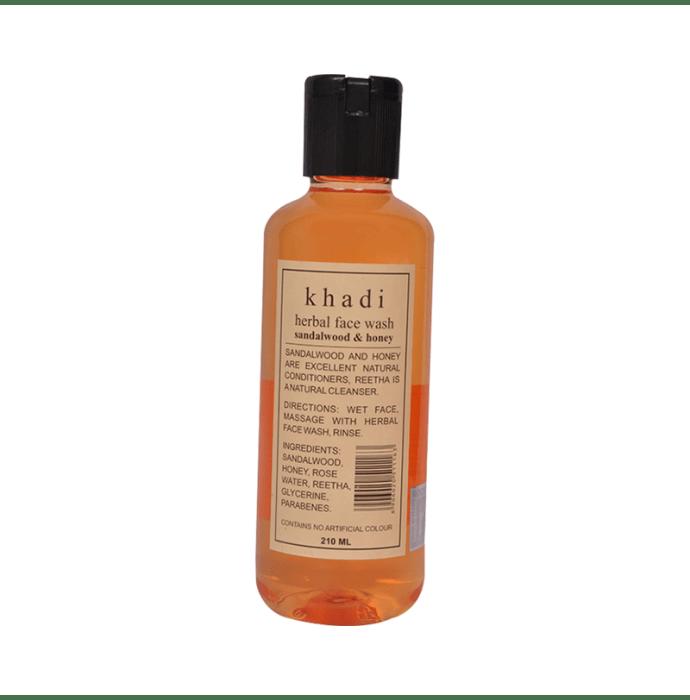 Khadi Naturals Ayurvedic Sandalwood & Honey Face Wash Pack of 2
