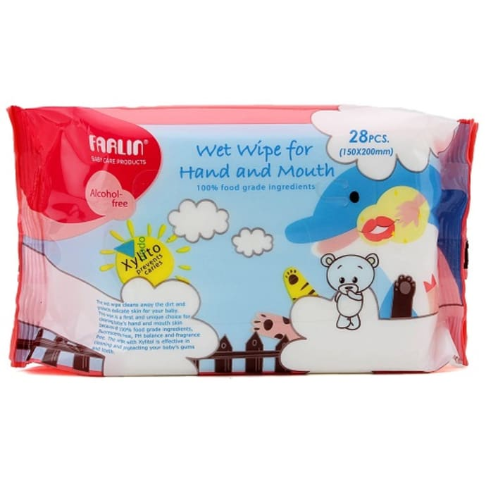 Farlin Wet Wipe for Hand and Mouth Pack of 4