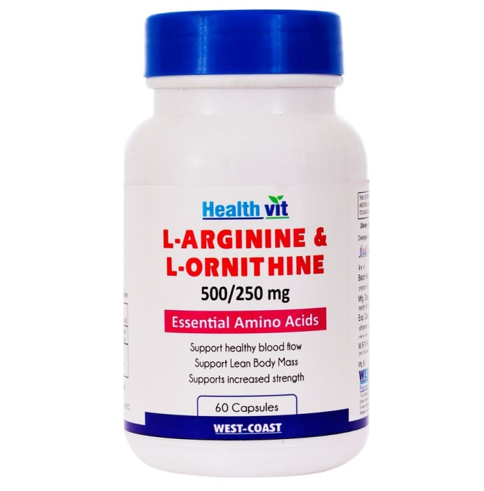 HealthVit L- Arginine - Ornithine  500mg/250 mg Tablet