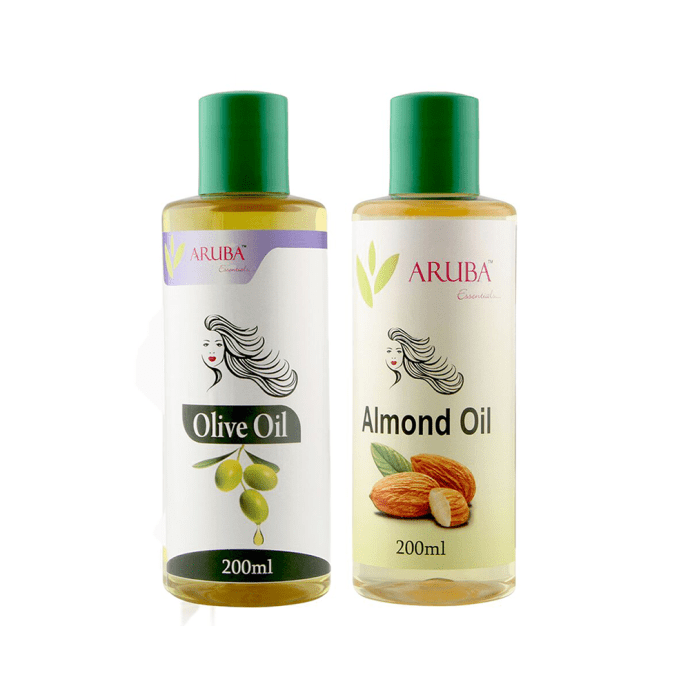 Aruba Essentials Combo Pack of Olive Oil 200ml & Almond Oil 200ml