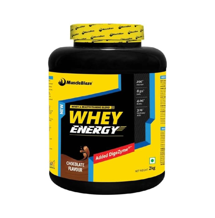 MuscleBlaze Whey Energy with Digezyme Powder Chocolate