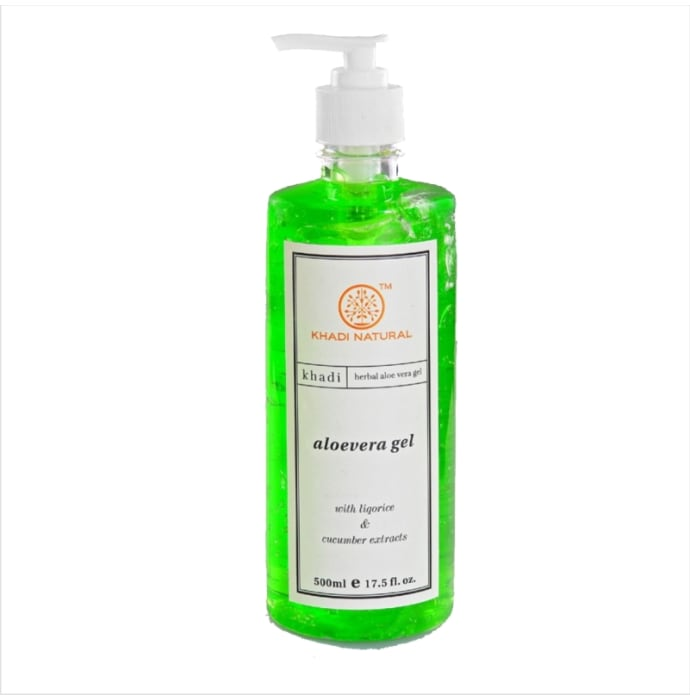 Khadi Naturals Ayurvedic Aloevera Gel with Liqorice and Cucumber Extracts -Green