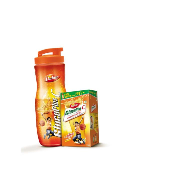 Dabur Glucoplus C Powder (Get Sipper Free) Orange