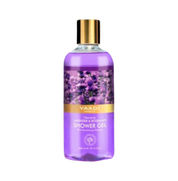 Vaadi Herbals Value Pack of Heavenly Lavender & Rosemary Shower Gel Pack of 3