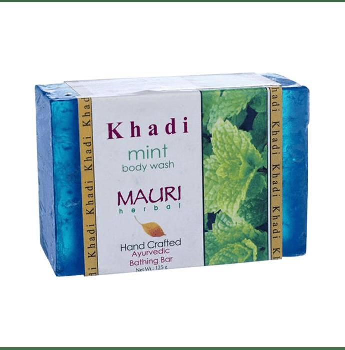 Khadi Mauri Herbal Mint Soap Pack of 2