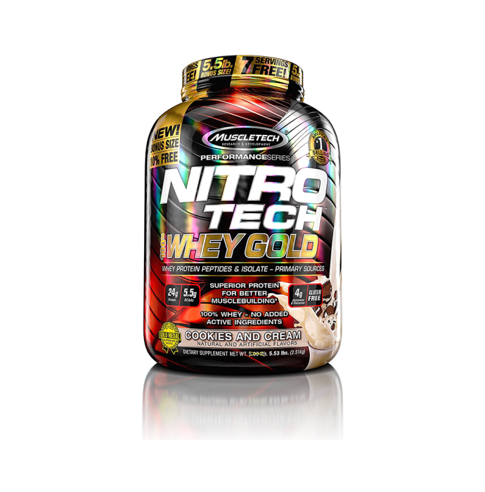 Muscletech Nitrotech Whey Gold Performance Series Cookies & Cream