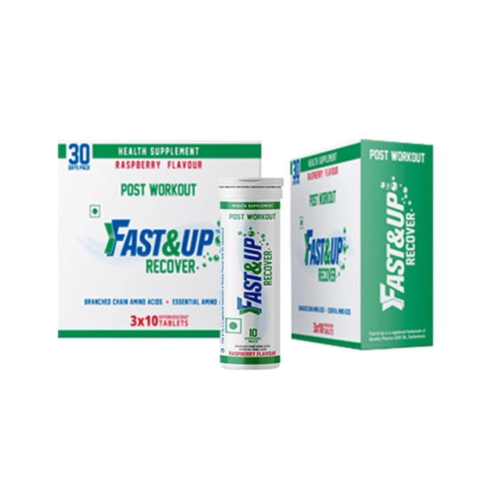 Fast&Up Recover Post Workout Effervescent tablet Raspberry