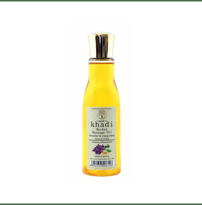 Vagad's Khadi Ayurvedic Lavender & Ylang Ylang Herbal Massage Oil