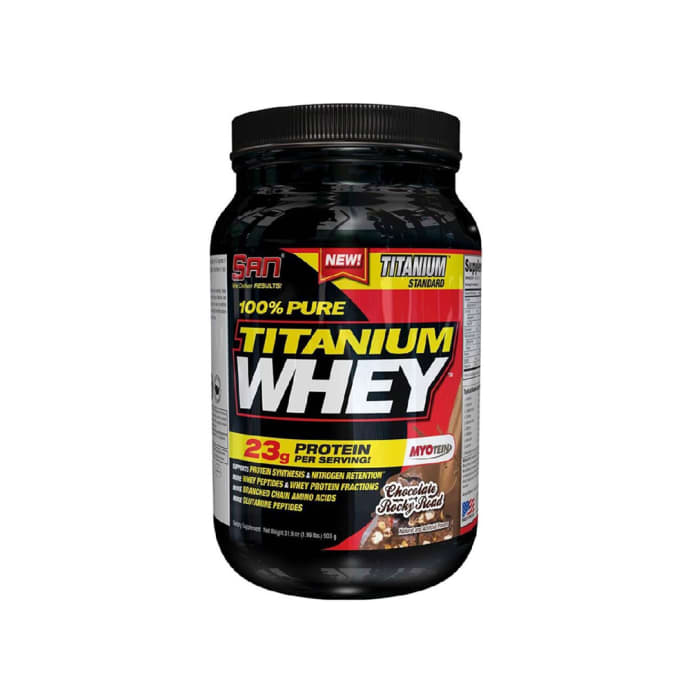 SAN 100% Pure Titanium Whey Chocolate Rocky Road