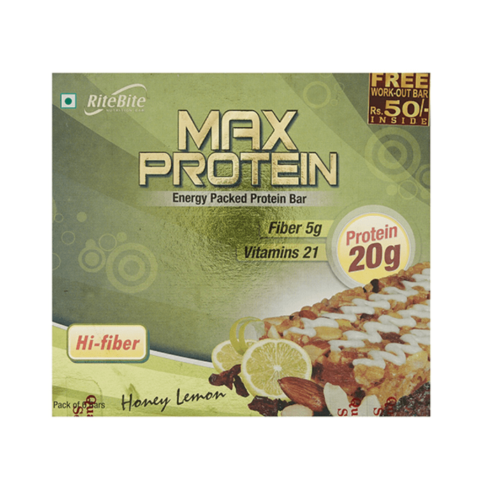 RiteBite Max Protein Bar Honey lemon