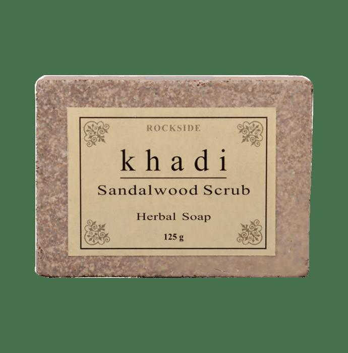Khadi Naturals Sandalwood Scrub Herbal Soap Pack of 3