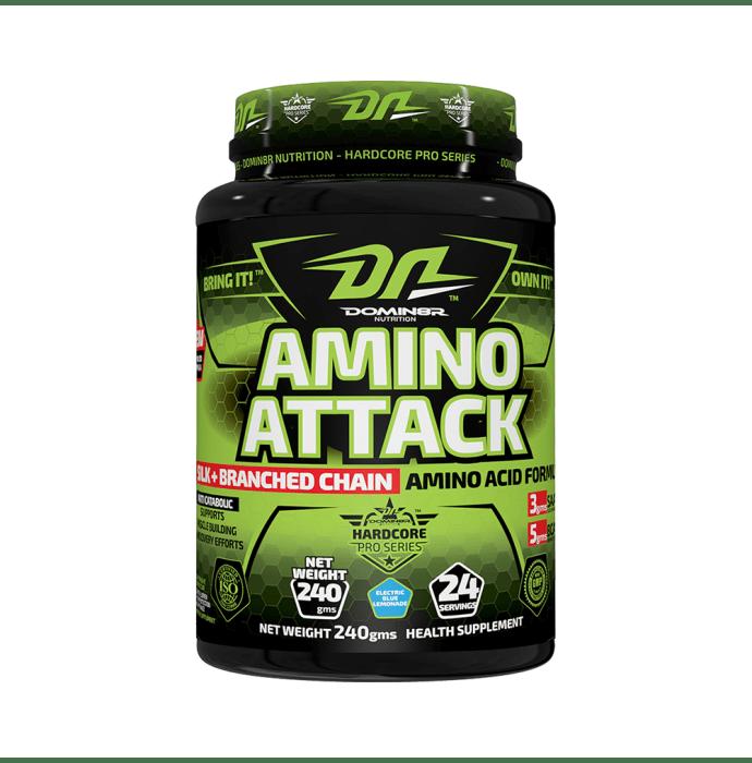 DOMIN8R Amino Attack Powder Electric Blue Lemonade