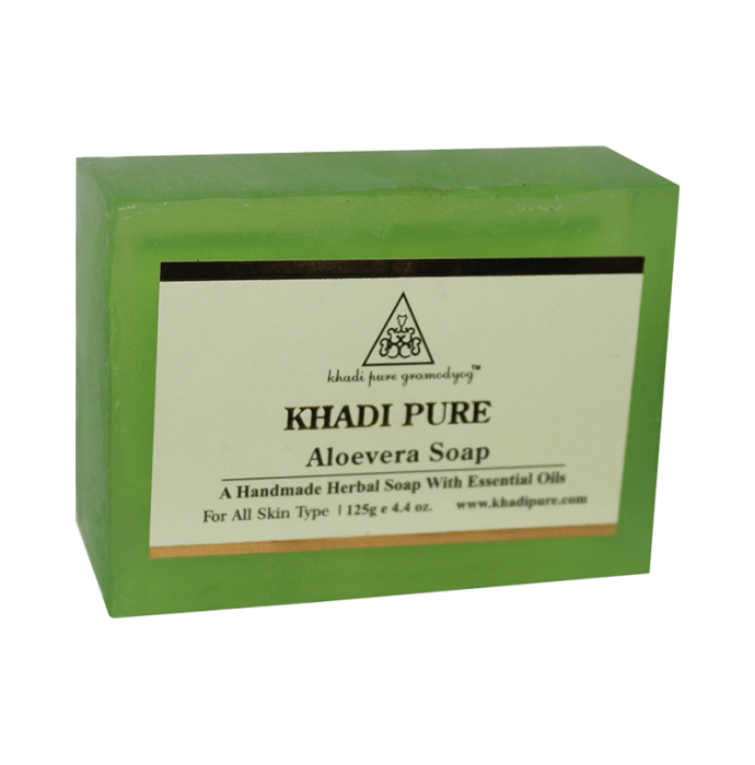 Khadi Pure Herbal Aloevera Soap Pack of 2