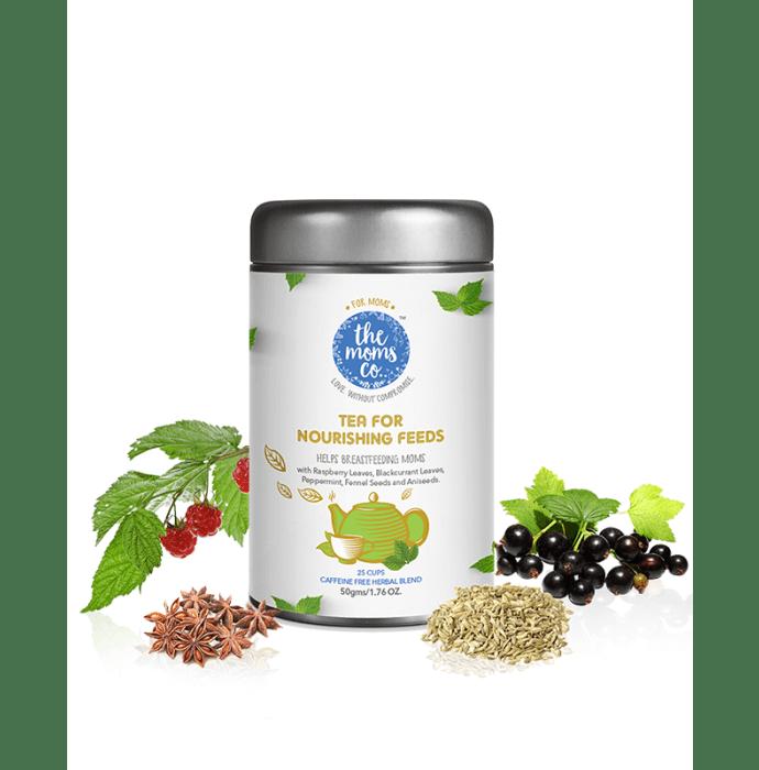 The Moms Co. 100% Caffeine Free Herbal Tea for Nourishing Feeds