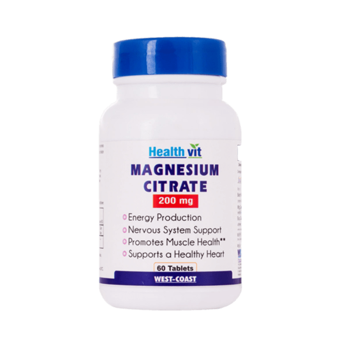 HealthVit High Absorption Magneed C-200 Magnesium Citrate 200mg Capsule