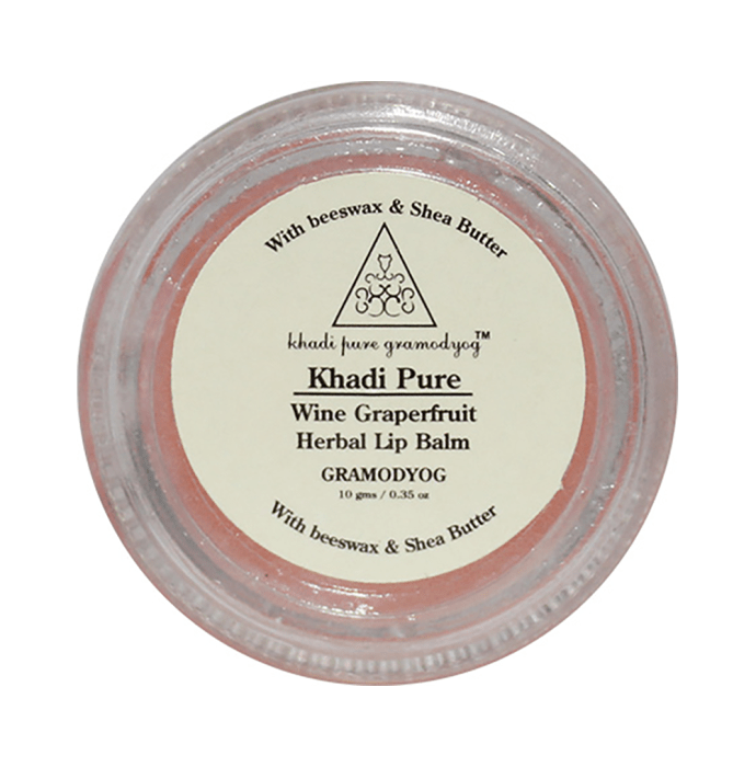 Khadi Pure Herbal Lip Balm Wine Grapefruit
