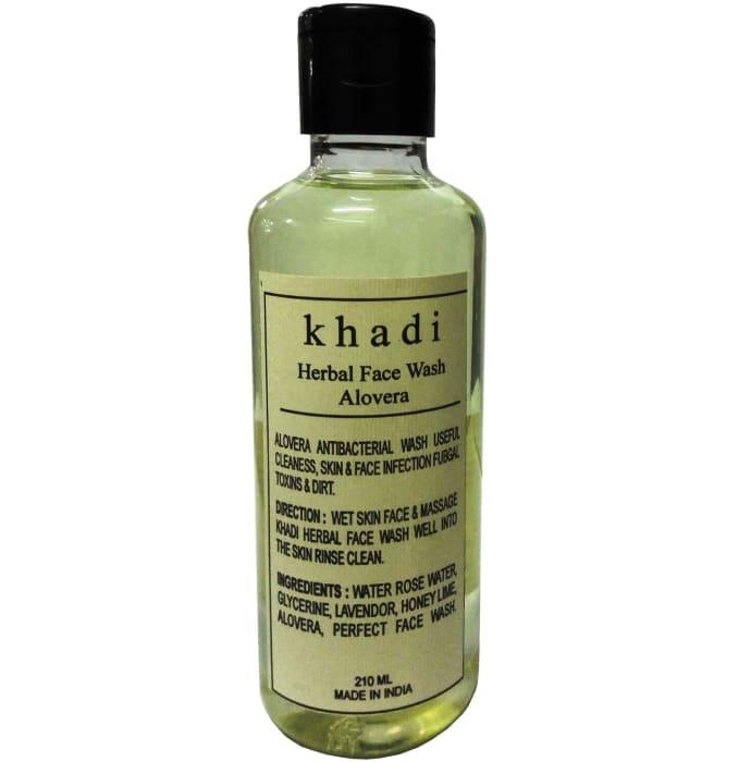 Khadi Herbal Aloevera Face Wash Pack of 2