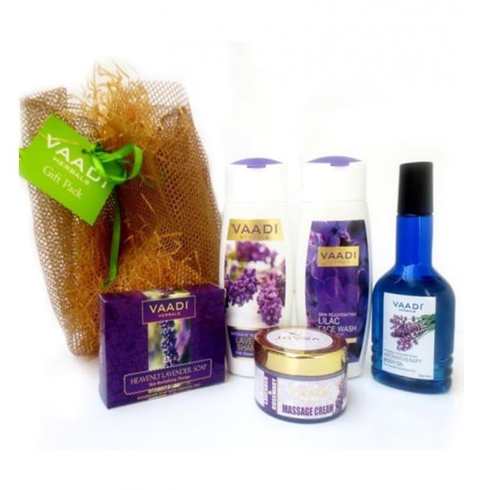 Vaadi Herbals Lavender-Lilac Skin Care Gift Pack