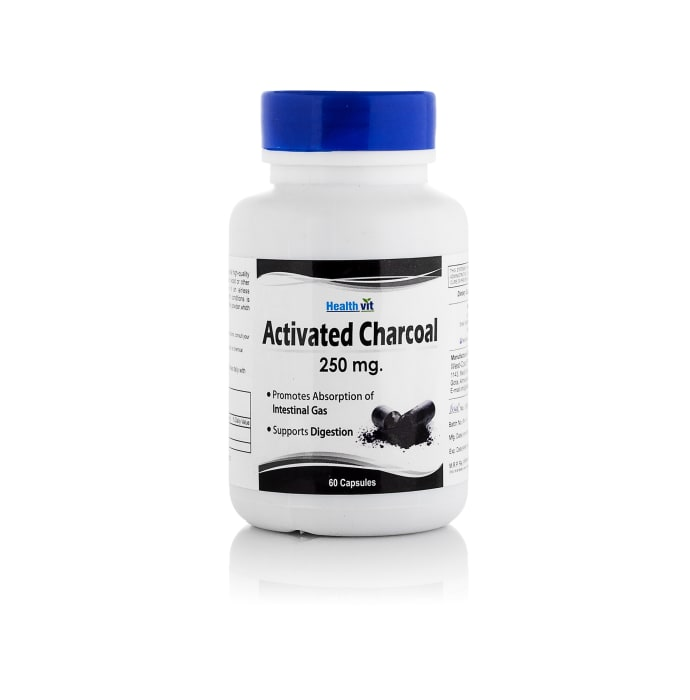 HealthVit Activated Charcoal 250mg Capsules for Digestion