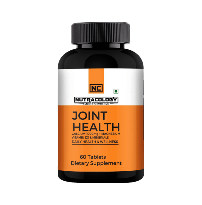 Nutracology Joint Health Calcium Citrate 1000mg + Magnesium, Vitamin D3 & Minerals Tablet