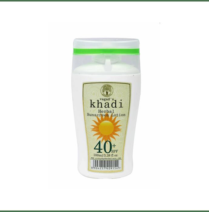 Vagad's Khadi Ayurvedic Herbal Sunscreen Lotion SPF 40
