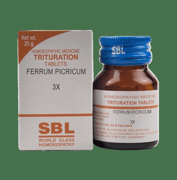 SBL Ferrum Picricum Trituration Tablet 3X