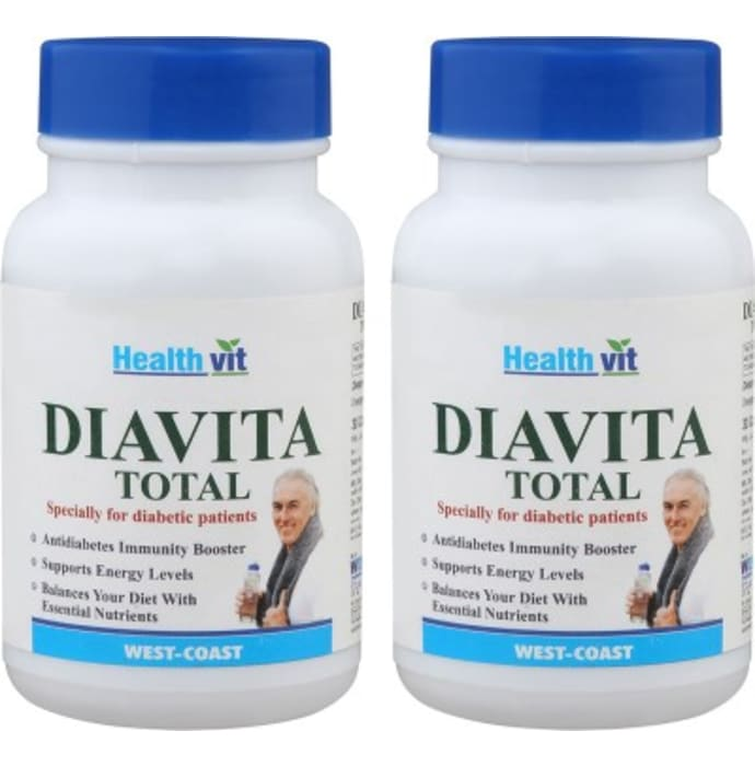 HealthVit Diavita Total Capsule (Pack OF 2)