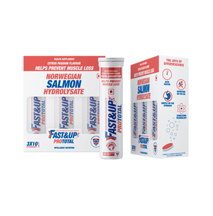 Fast&Up Prototal Norwegian Salmon Hydrolysate Effervescent tablet Citrus Passion
