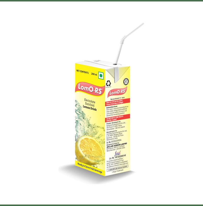 Lomo-RS Electrolyte Enriched Drink Lemon Pack of 3