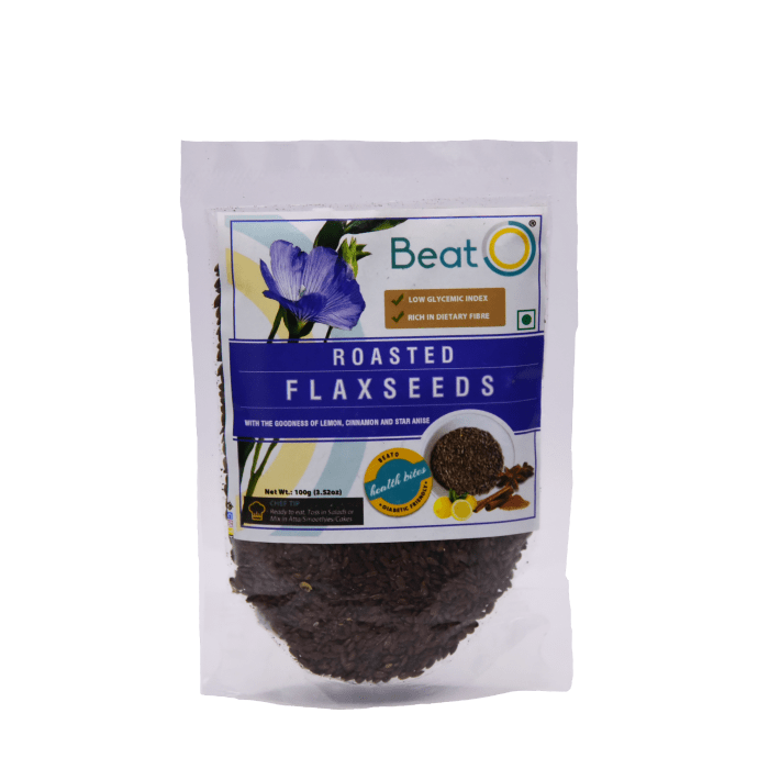 BeatO Roasted Flax Seeds Pack of 2