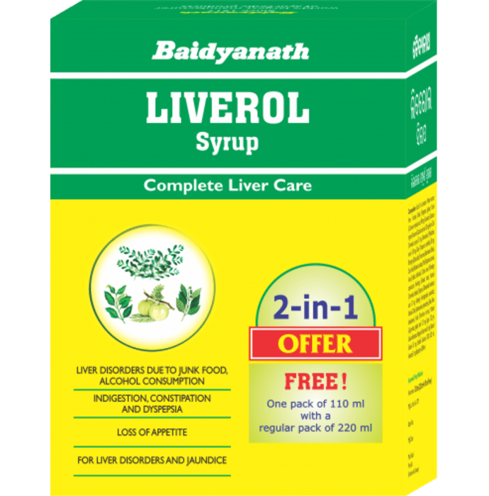 Baidyanath Liverol Syrup 220ml with 110ml Free Syrup