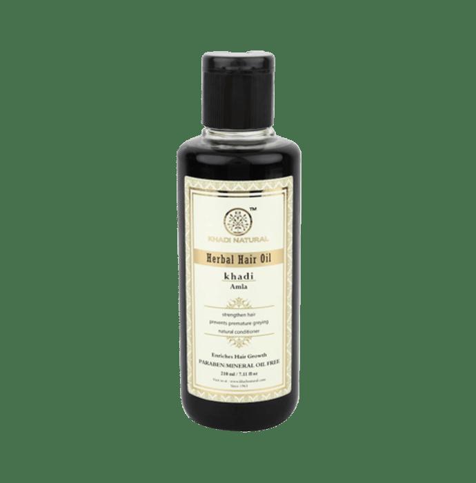 Khadi Naturals Ayurvedic Amla Hair Oil Paraben /Mineral Oil Free