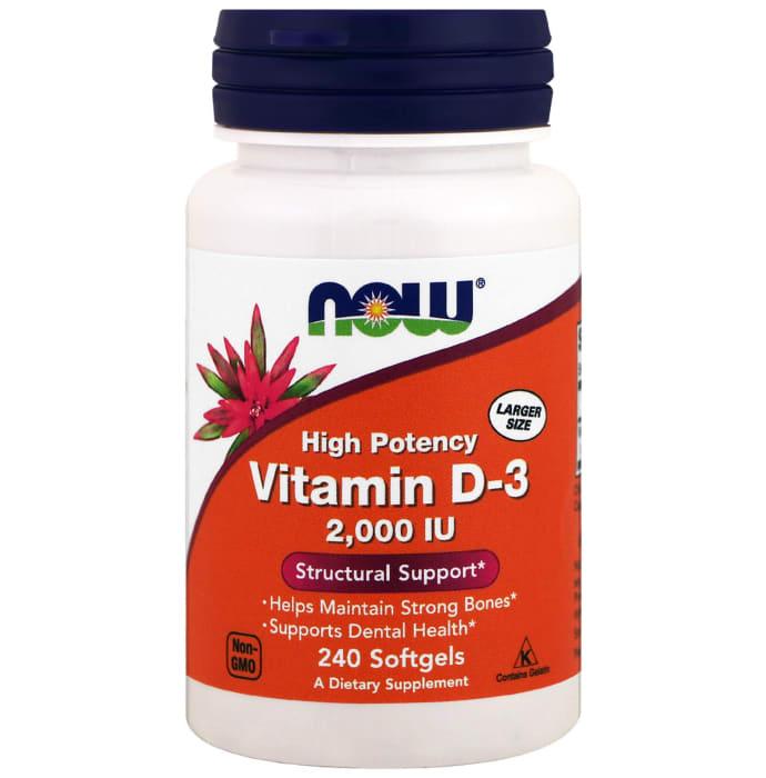 NOW Foods Vitamin D3 2000IU Softgels