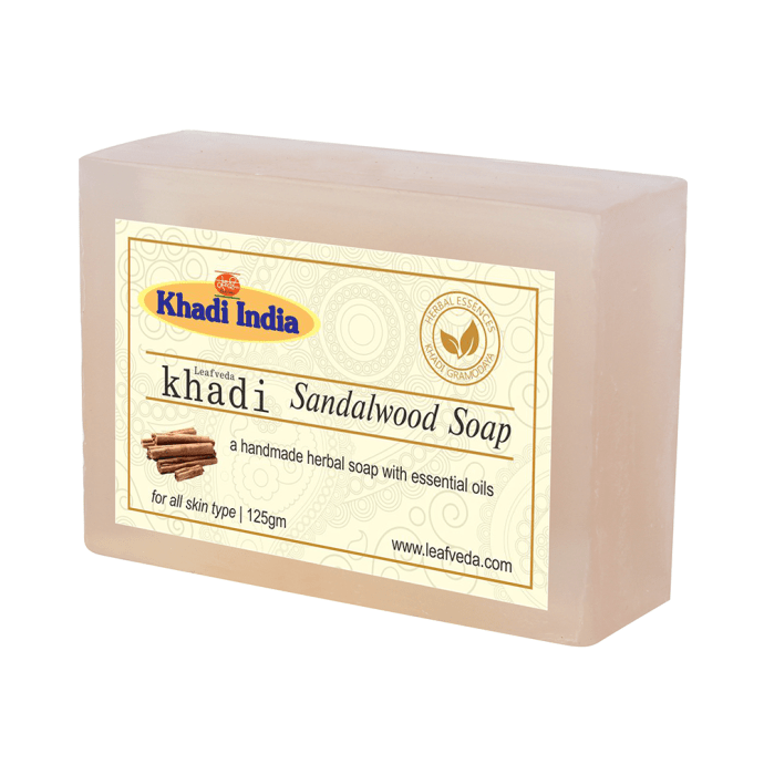 Khadi Leafveda Sandalwood Soap Pack of 2