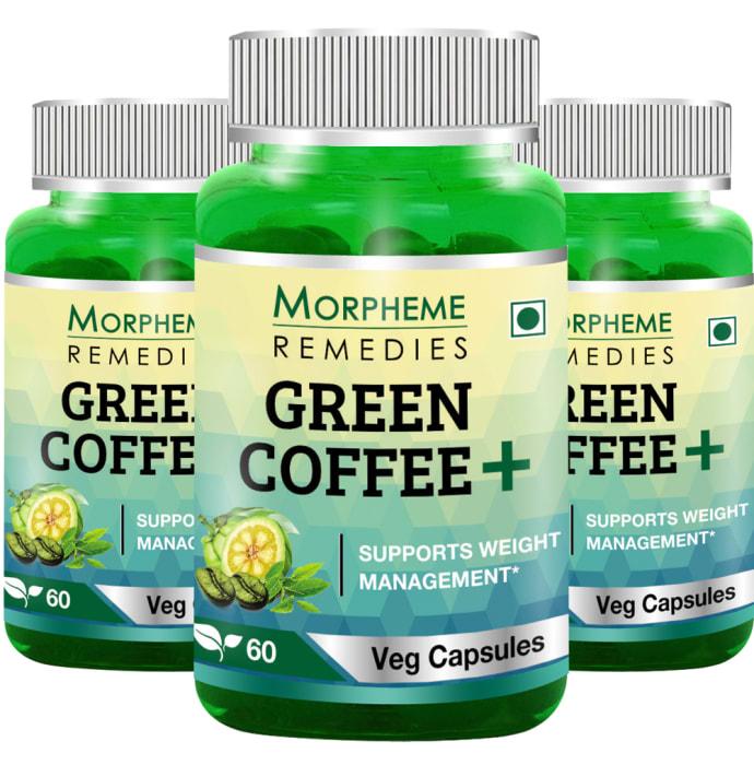 Morpheme Green Coffee+ Capsule (Pack Of 3)
