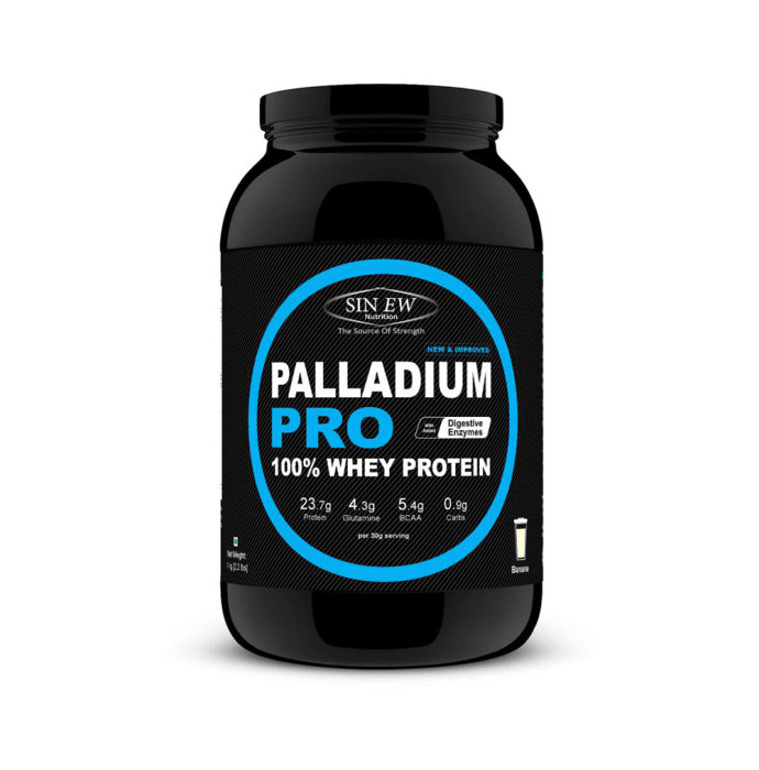 Sinew Nutrition Palladium Pro Whey Protein with Digestive Enzymes Banana