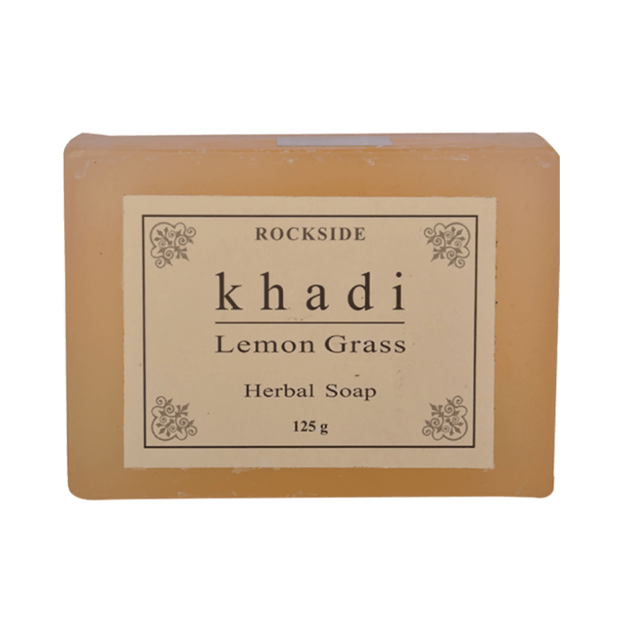 Khadi Naturals Ayurvedic Lemongrass Soap Pack of 3