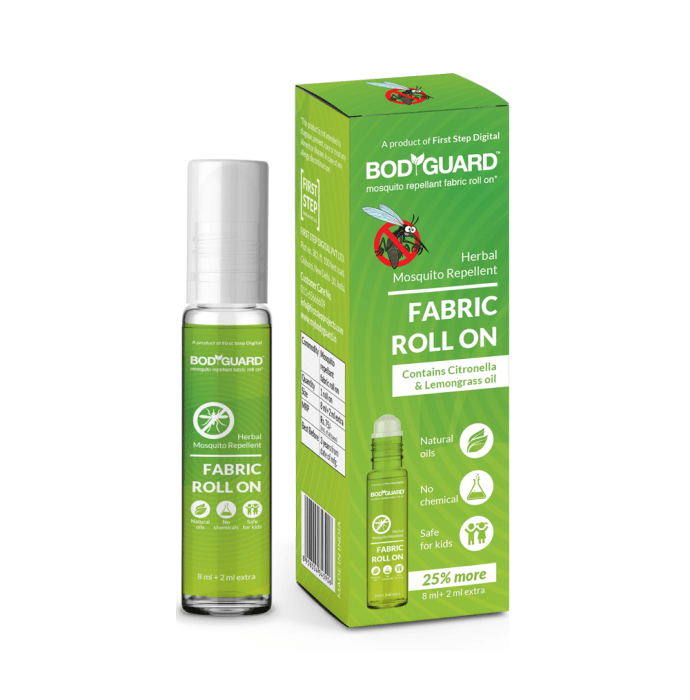 Bodyguard Herbal Mosquito Repellent Fabric Roll On Oil Pack of 2