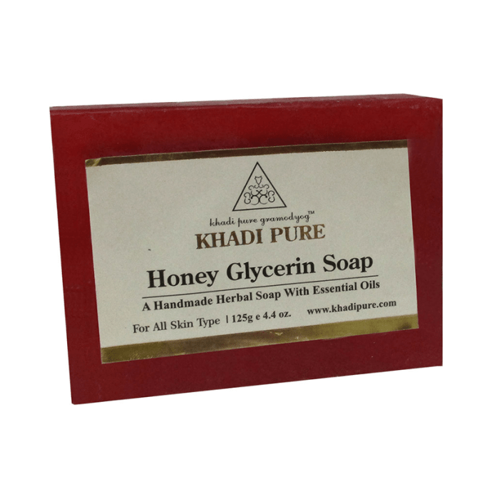 Khadi Pure Herbal Honey Glycerin Soap Pack of 2