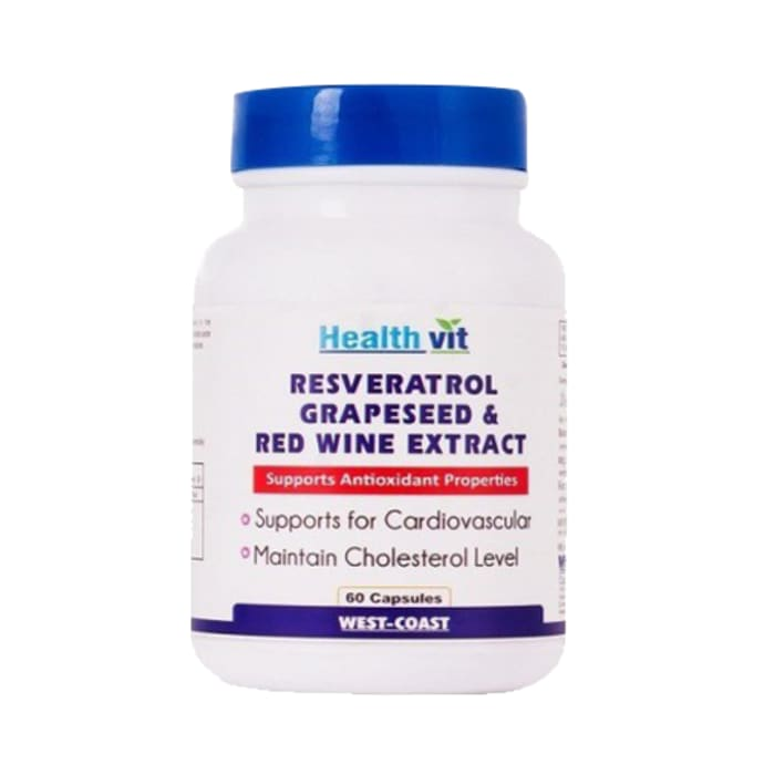 HealthVit Resveratrol Grapeseed Extract and Redwine Extract Capsule