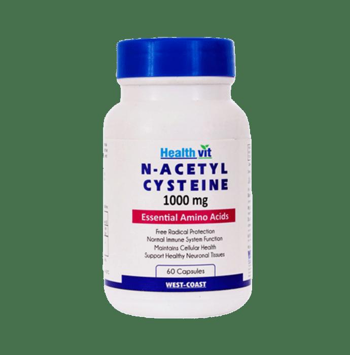 HealthVit N- Acetyl Cysteine (NAC) Liver & Antioxidant Support 1000mg Capsule