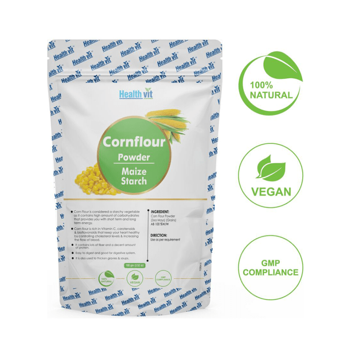 HealthVit Natural Cornflour (Zea Mays) Powder