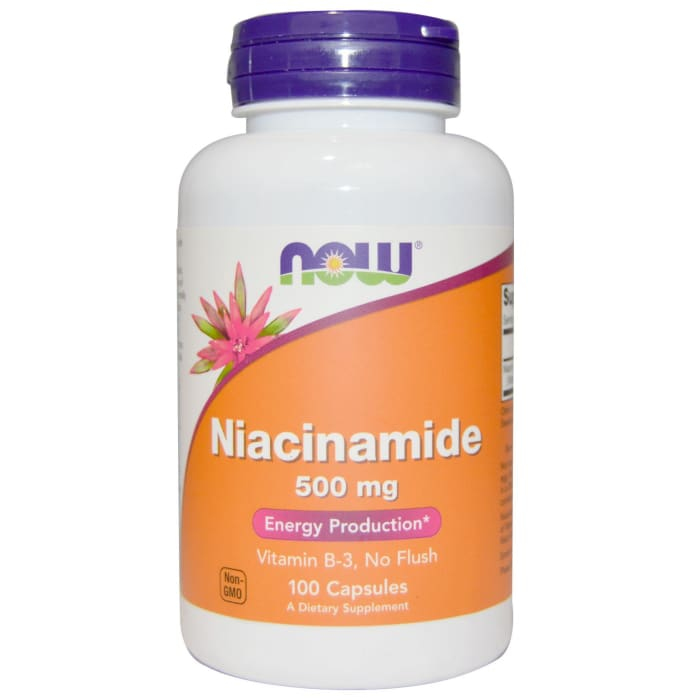 NOW Foods Niacinamide 500mg Capsule