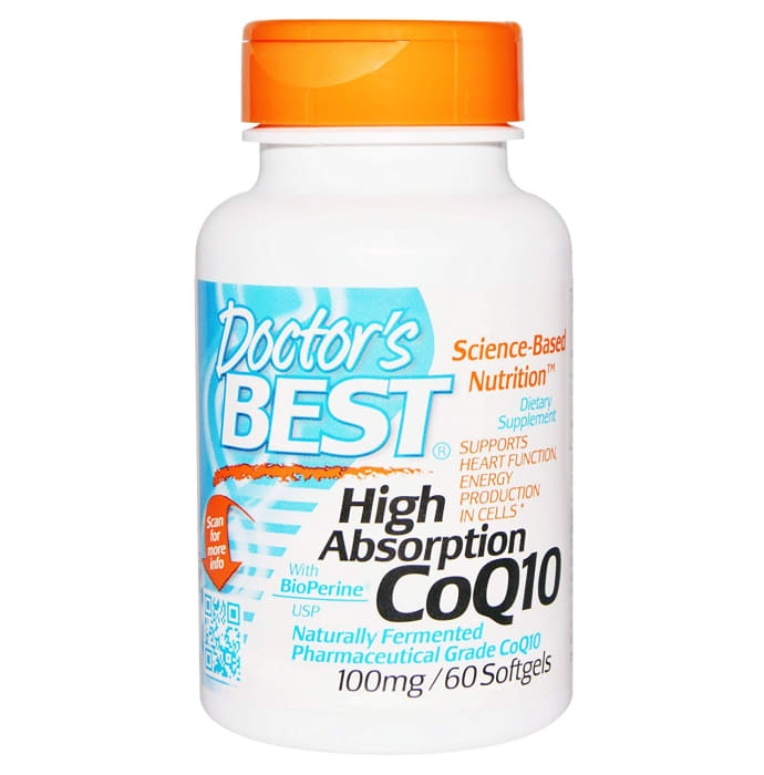 Doctor's Best High Absorption CoQ10 with Bioperine 100mg Soft Gelatin Capsule