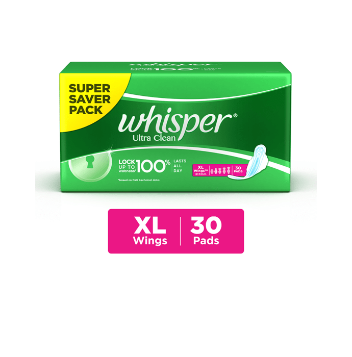 Whisper ultra clean wings sanitary pads xl: buy whisper ultra clean ...